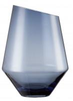 Vase / Windlicht groß blau Diamonds